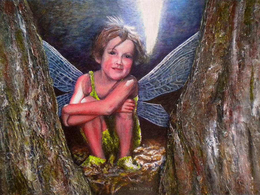 Girl Painting - The Tree Fairy by Michael Durst