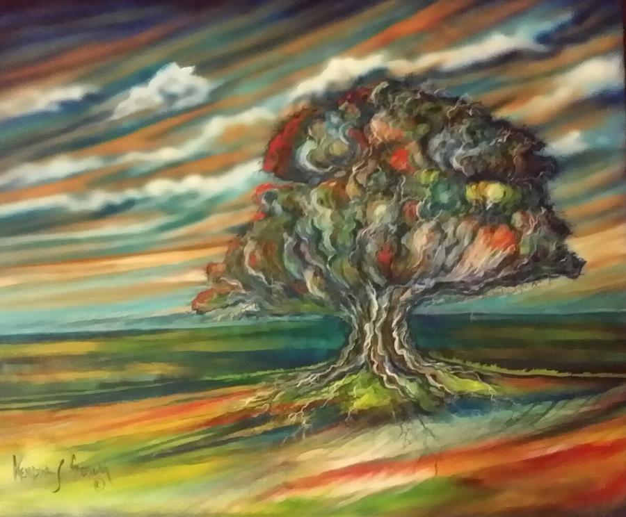 Tree Painting - The Tree by Kendra Sorum