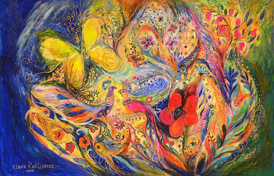 Original Painting - The Tree Of Life by Elena Kotliarker
