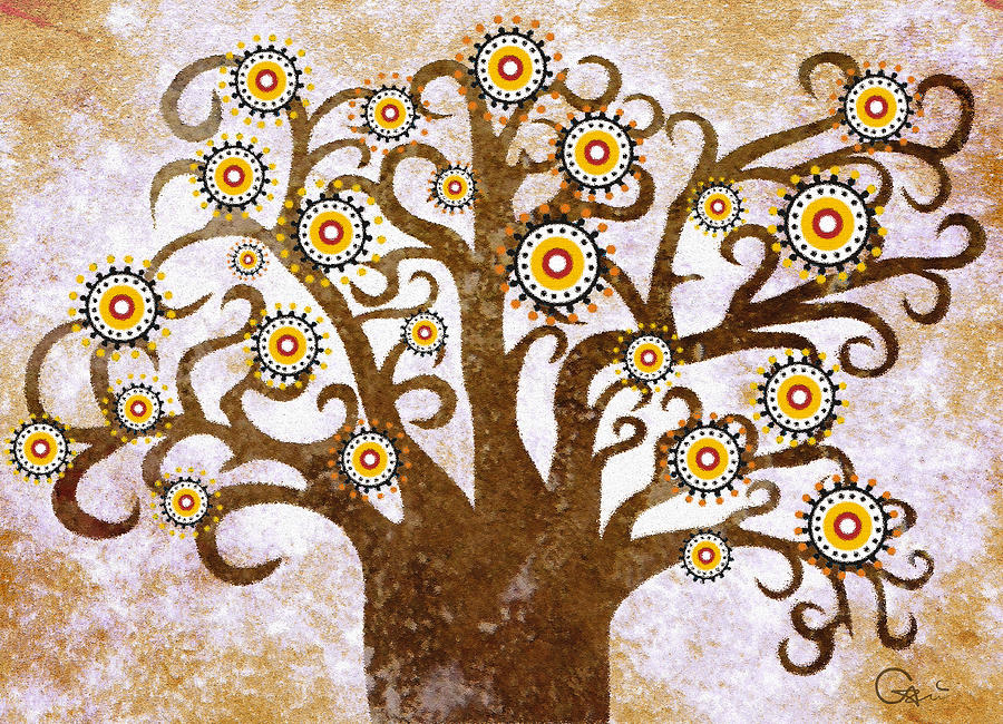 Desert Digital Art - The Tree by Sergey Khreschatov