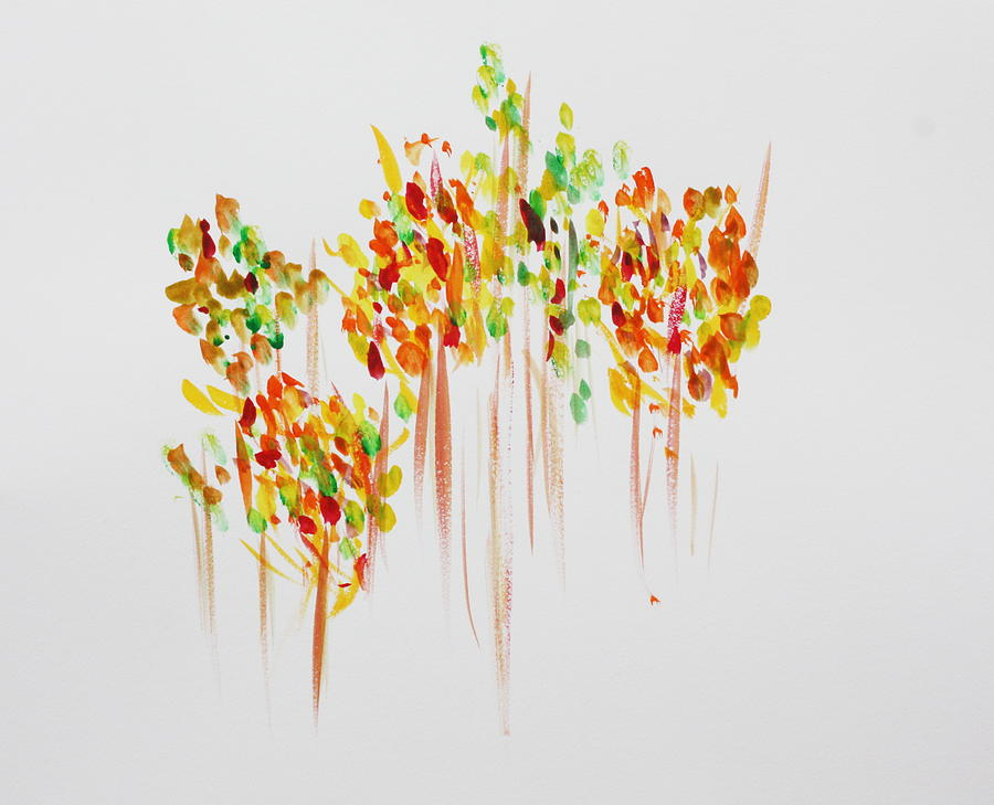 Fall Painting - The Trees are Dancing by Tom Atkins