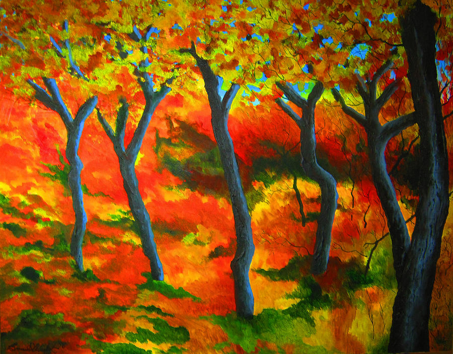 Fall Painting - The Trees by Bradd Wickert