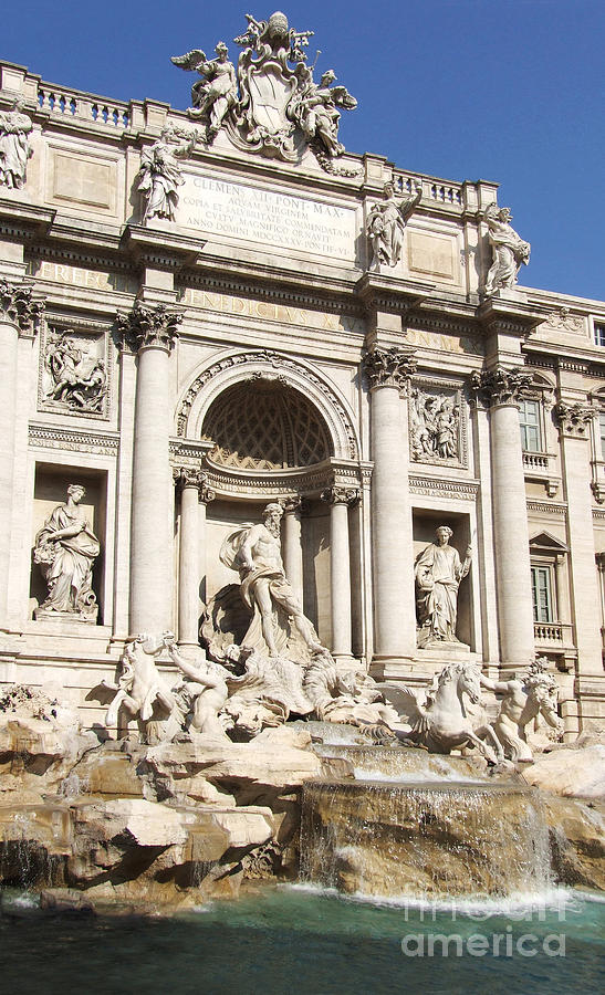Trevi Fountain Photograph - The Trevi Fountain - Rome - Italy by Phil Banks