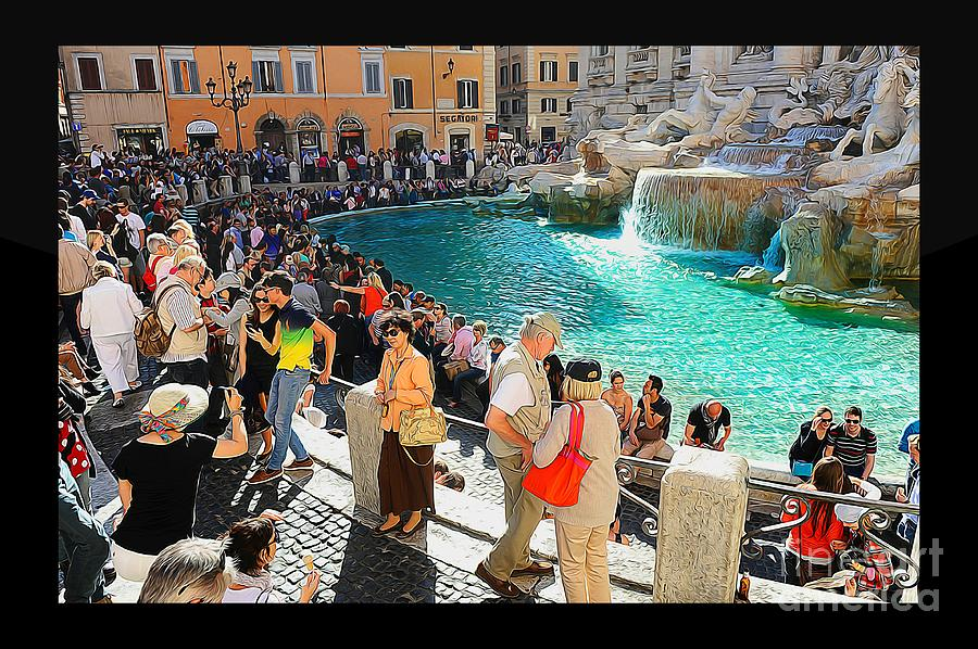 Tourist Photograph - The Trevi Fountain - Rome by Stefano Senise