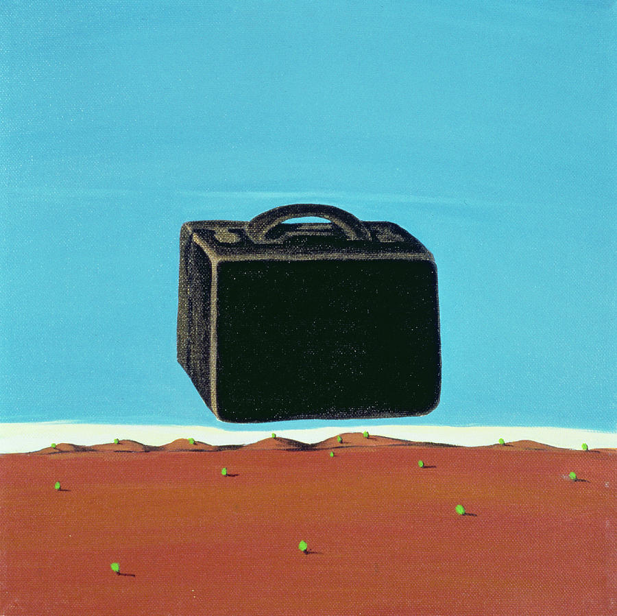 Suitcase Painting - The Trip, 1999 by Marjorie Weiss