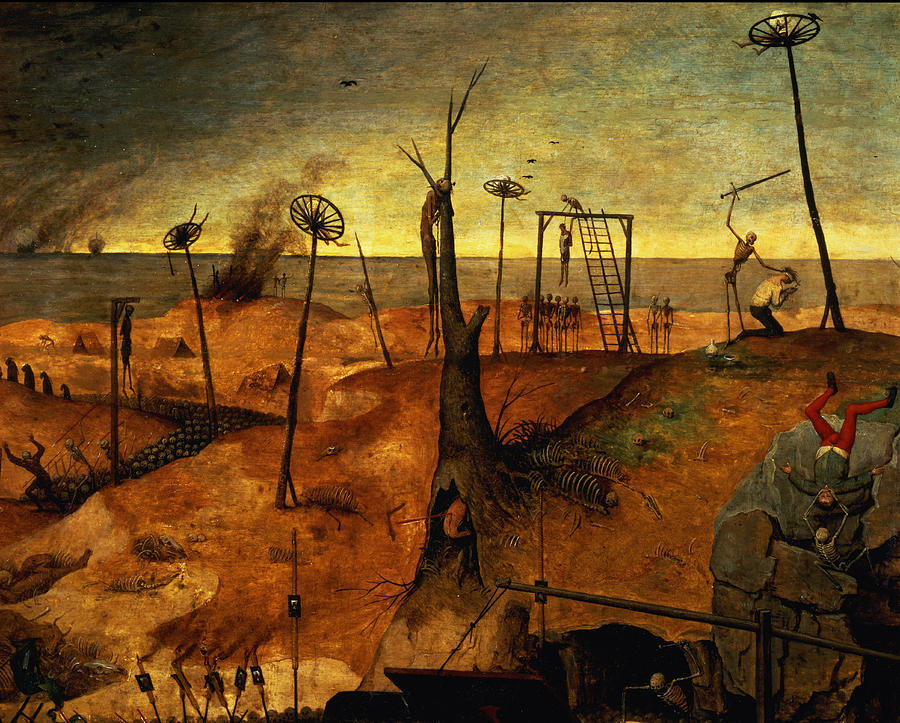 Gallows Painting - The Triumph Of Death by Pieter the Elder Bruegel