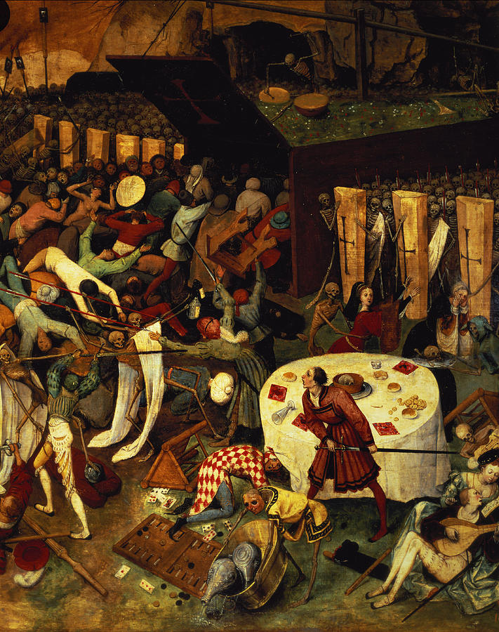 Backgammon Painting - The Triumph Of Death, Detail Of The Lower Right Section, 1562  by Pieter the Elder Bruegel