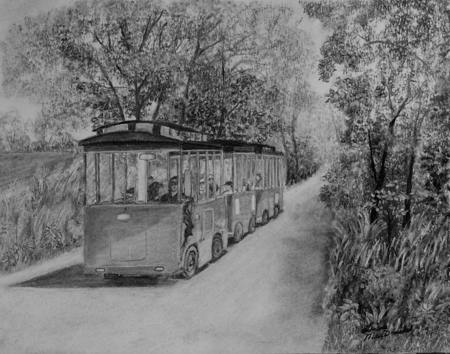 Landscape Drawing - The Trolley by Lisa MacDonald