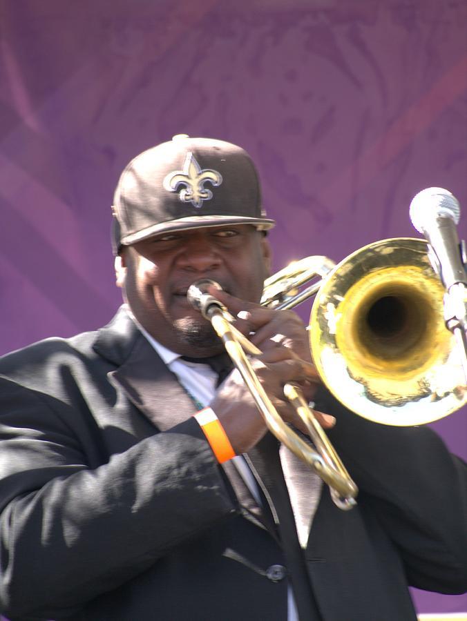 Trombone Photograph - The Trombone Player by Anthony Walker Sr