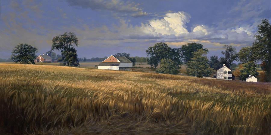 Gettysburg Painting - The Trostle Farm Gettysburg by David Henderson