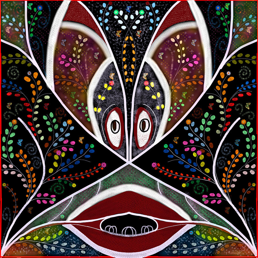 Pattern Painting - The Troubled Tribe by Karunita Kapoor