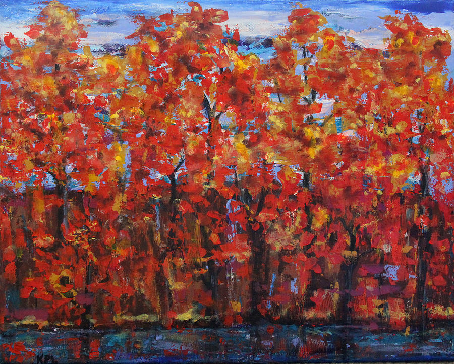 Landscape Painting - The True North Proud And Free by Kathy Peltomaa Lewis