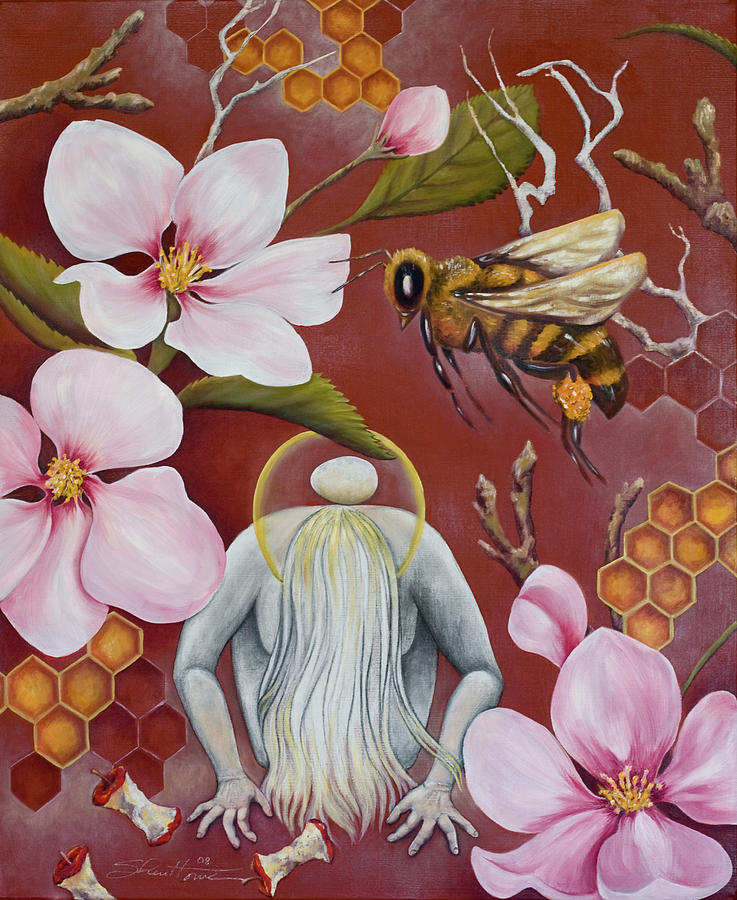 Honeybees Painting - The Truth Of Beauty by Sheri Howe