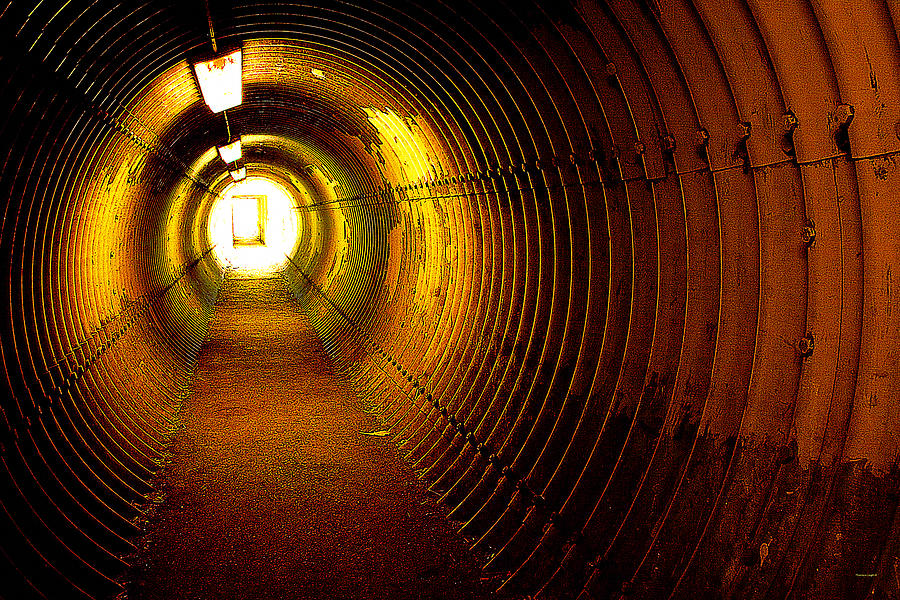Tunnel Photograph - The Tunnel by Theresa Tahara