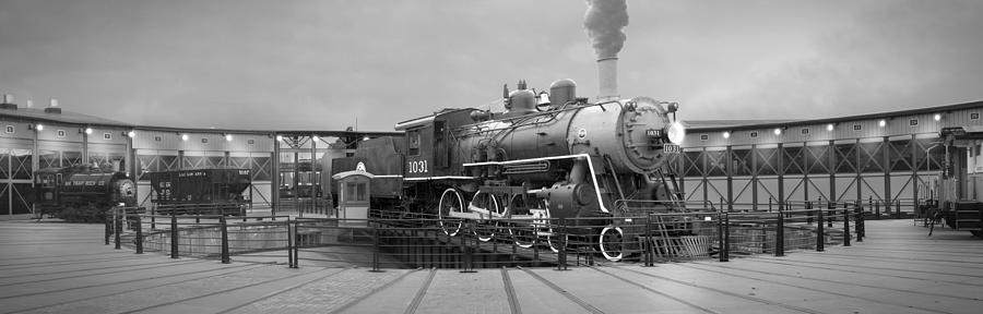 Transportation Photograph - The Turntable And Roundhouse by Mike McGlothlen