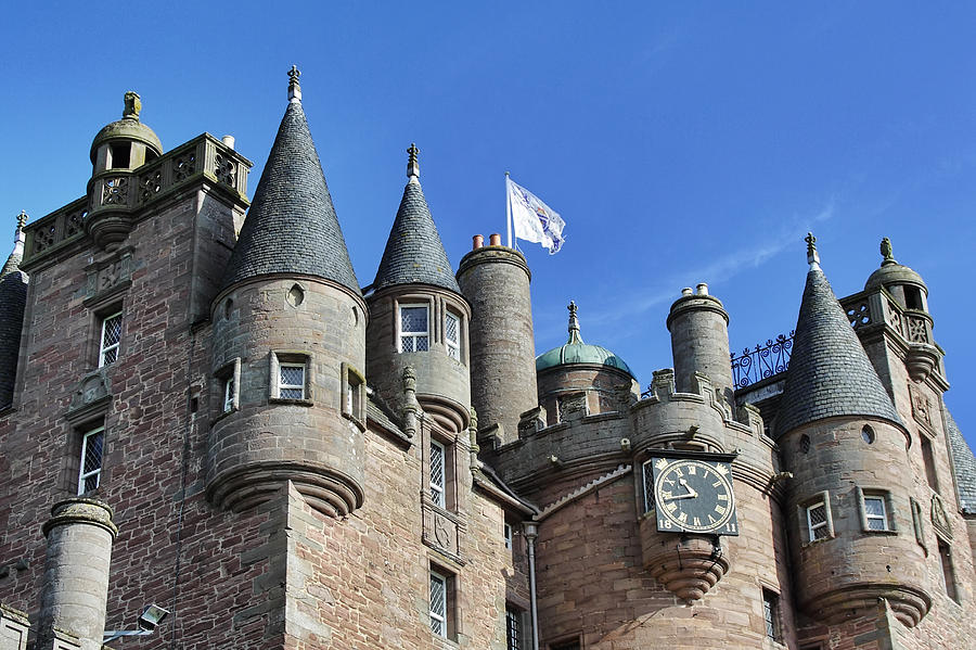The Turrets Of Glamis Castle Photograph By Jason Politte