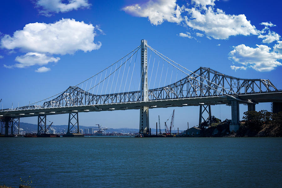 San Francisco Photograph - The Two Bridges by SFPhotoStore