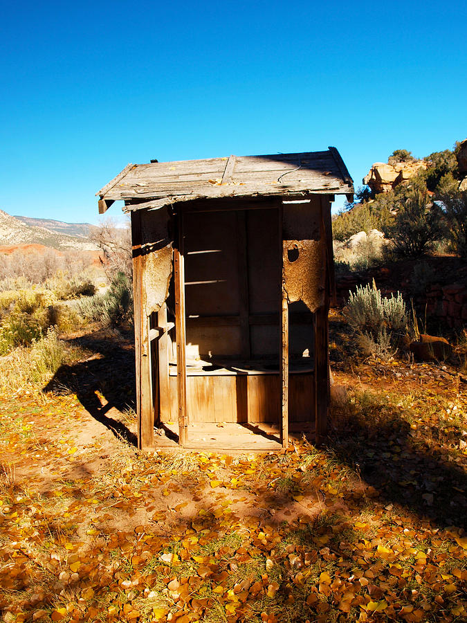 Outhouse Photograph - The Two Holer by Joshua House