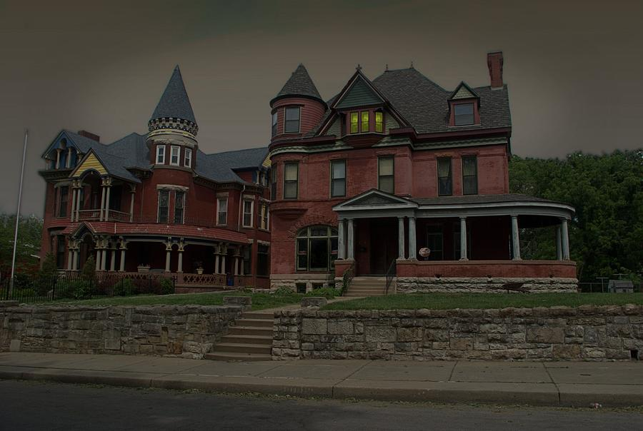 Ghost Photograph - The Two Sisters Haunted House by Tim McCullough