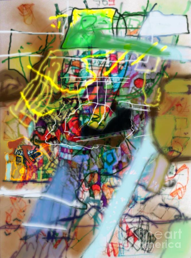 Torah Digital Art - The Tzaddik Lives On Emunah 22 by David Baruch Wolk