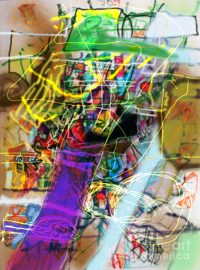 Torah Digital Art - The Tzaddik Lives On Emunah 22a by David Baruch Wolk