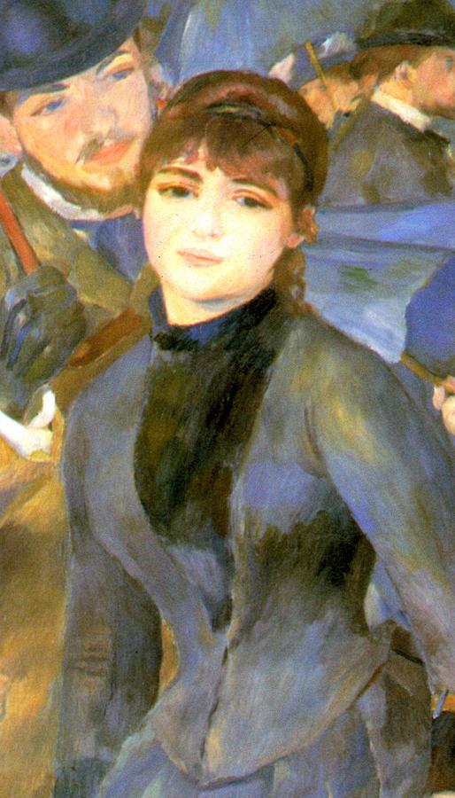Pierre Auguste Renoir Digital Art - The Umbrellas Detail IIi by Pierre Auguste Renoir