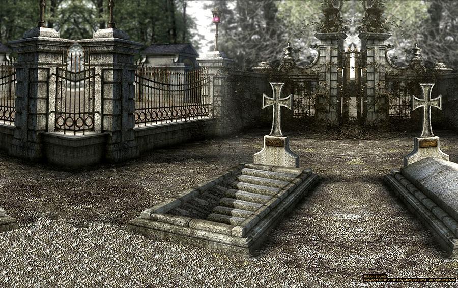 Graves Digital Art - The Un-grave by Robert Marquiss