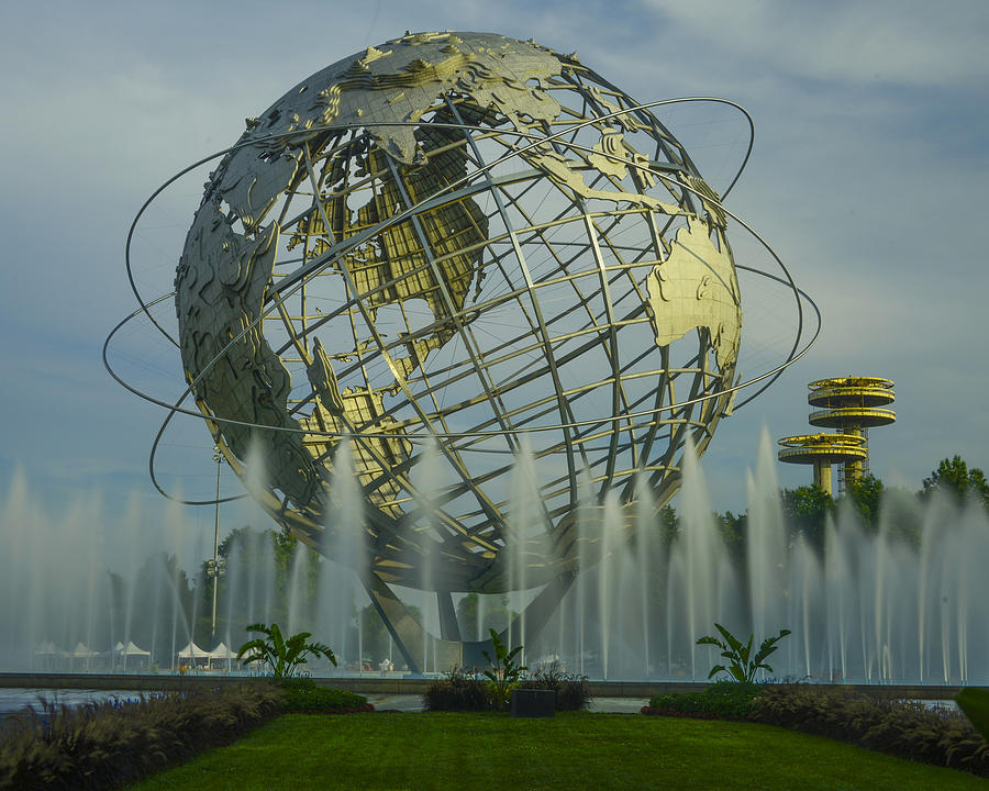 Landscape Photograph - The Unisphere by Theodore Jones