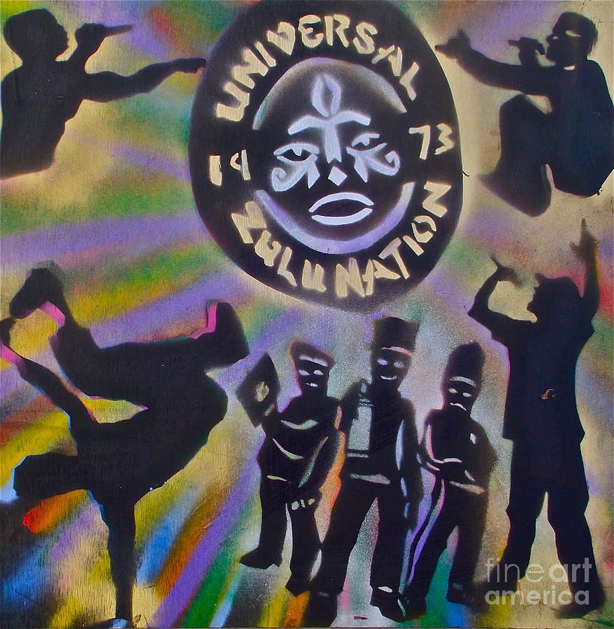 Hip Hop Painting - The Universal Zulu Nation by Tony B Conscious