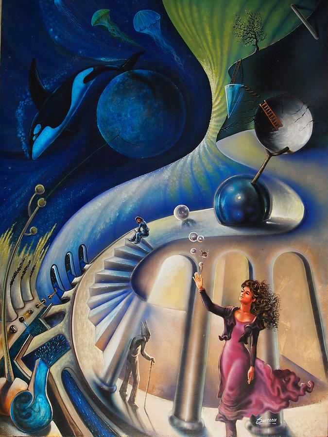 Orca Painting - The Universes Madame by Dayna Reed
