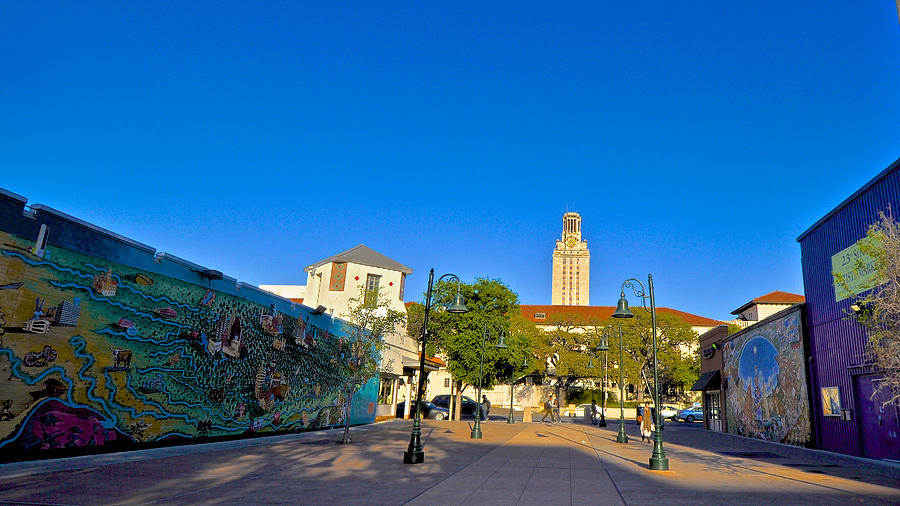 Tote Photograph - The University Of Texas Tower by Kristina Deane