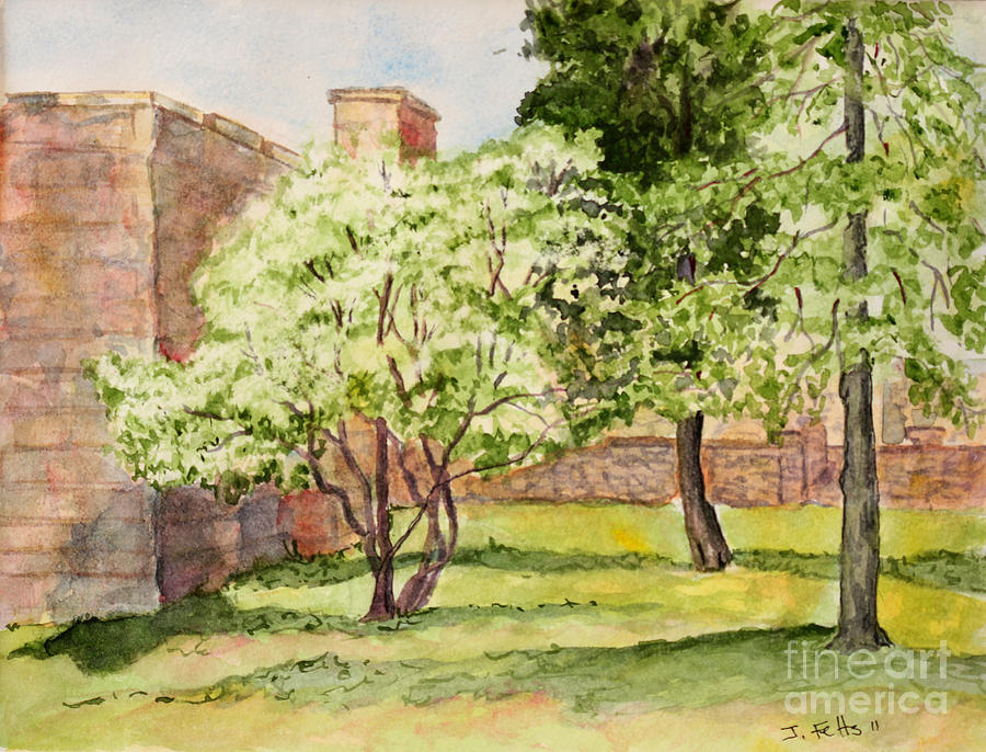 University Painting - The University Of The South Campus by Janet Felts