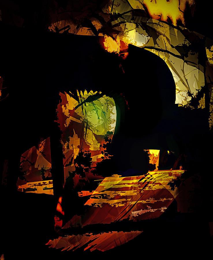 Abstract Digital Art - The Unknown by Gerlinde Keating - Galleria GK Keating Associates Inc