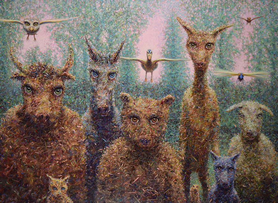 Animals Painting - The Untamed by James W Johnson