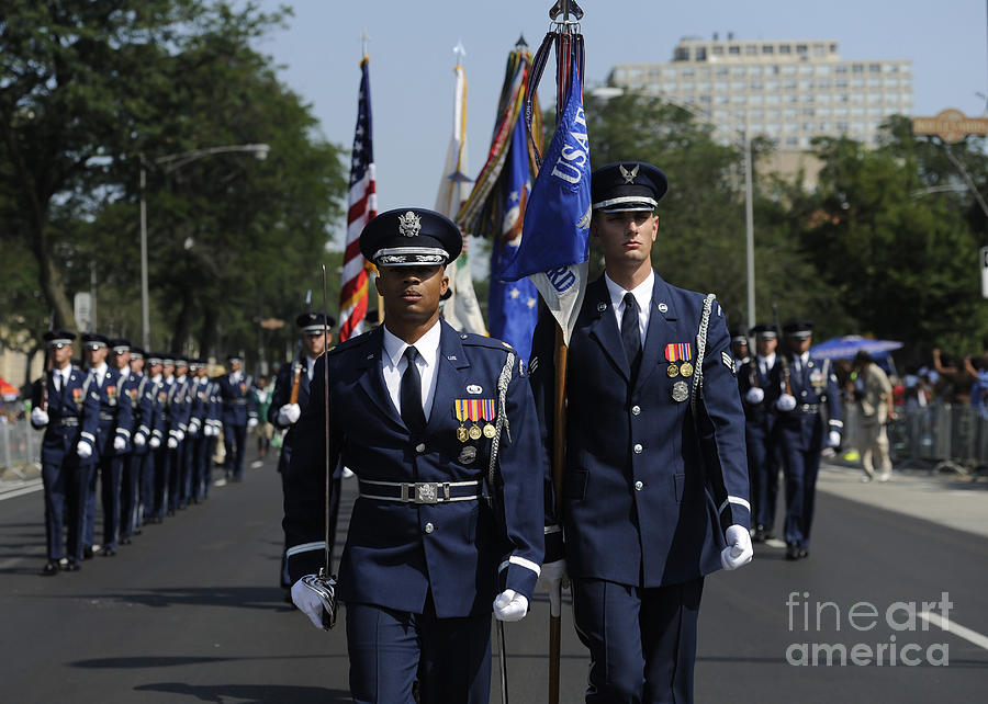 Bud Billiken Parade Photograph - The U.s. Air Force Color Team by Stocktrek Images