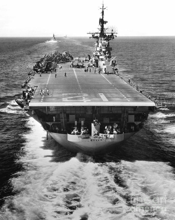 The U.s. Aircraft Carrier Uss Boxer Photograph
