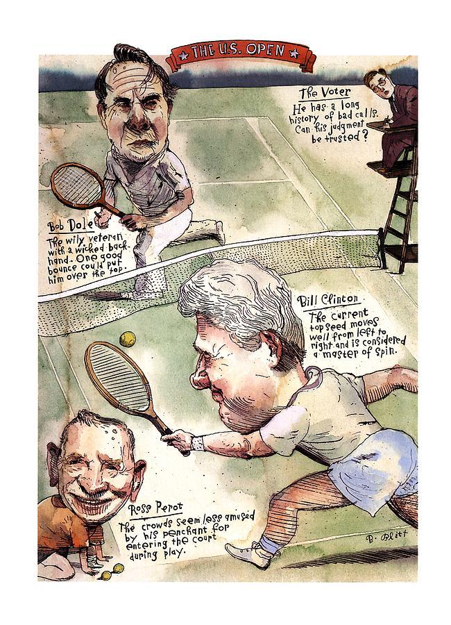 The U.s. Open Drawing by Barry Blitt