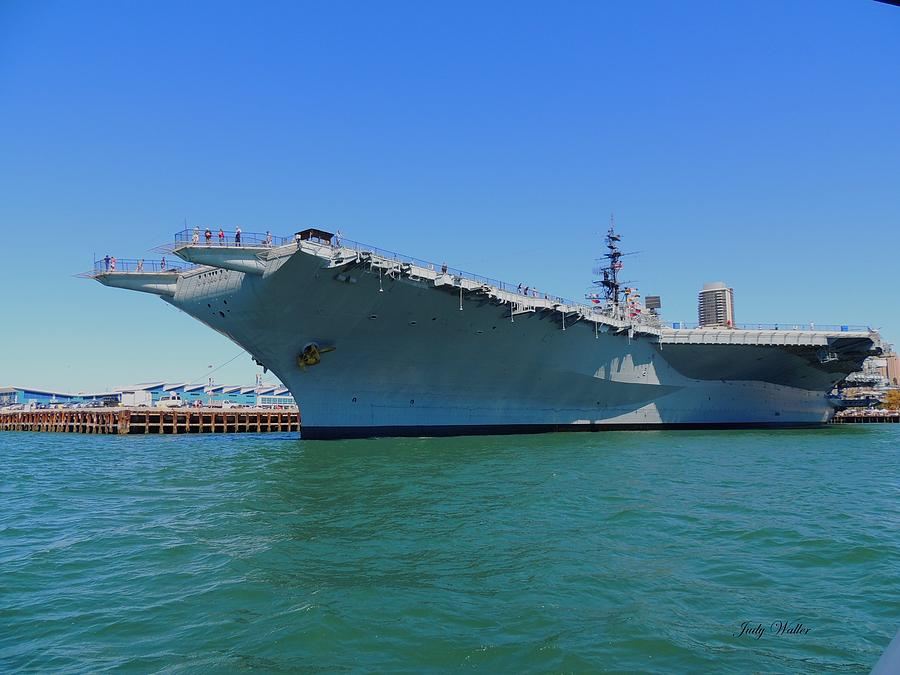 Bridge Photograph - The Uss Midway by Judy  Waller