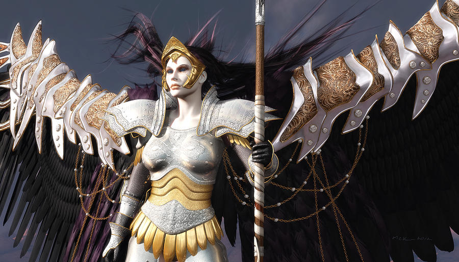Warriors Digital Art - The Valkyrie by Melissa Krauss