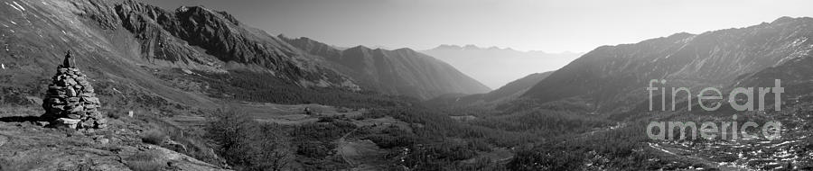 Black & White Photograph - The Valley And The Rocks by Marco Affini