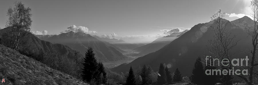 Bn Photograph - The Valley by Marco Affini