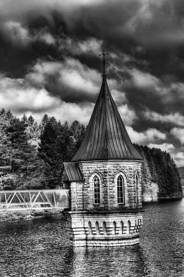 The Valve Tower Photograph - The Valve Tower Mono by Steve Purnell