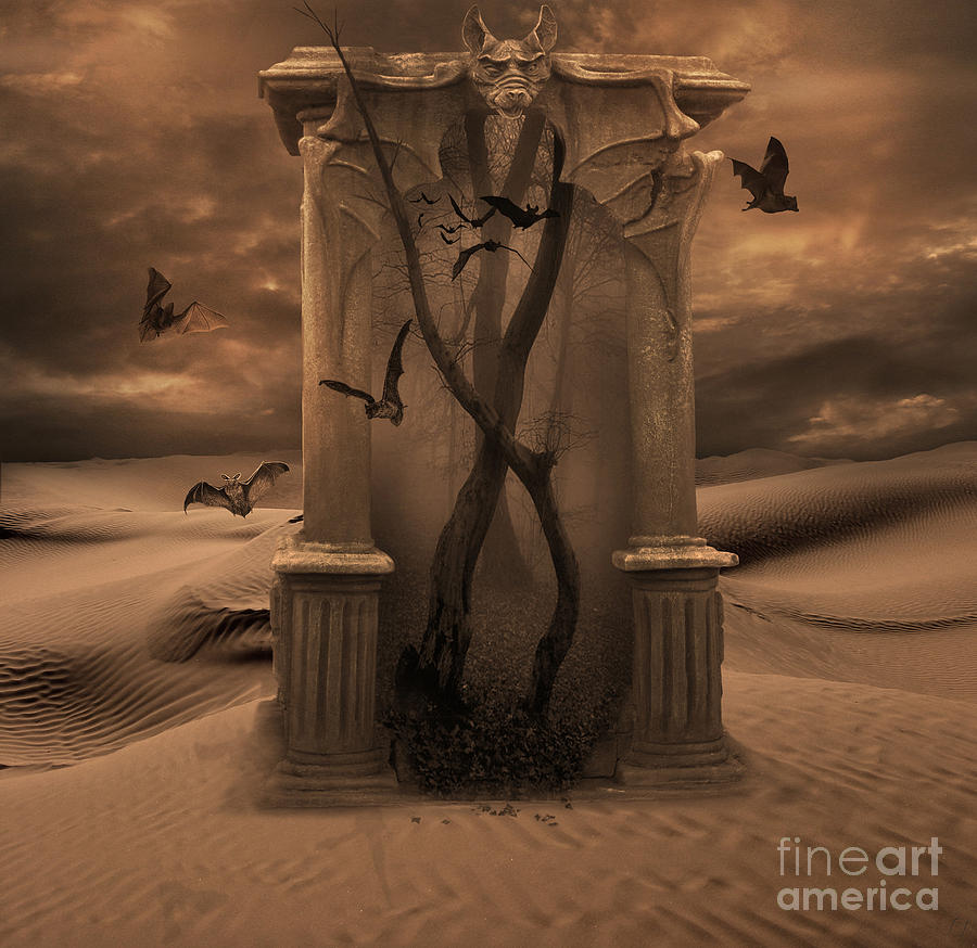 Desert Digital Art - The Vampires Portal by Lynn Jackson