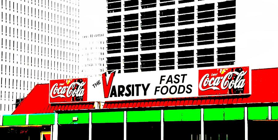 The Varsity Mixed Media - The Varsity Atlanta Pop Art by Dan Sproul