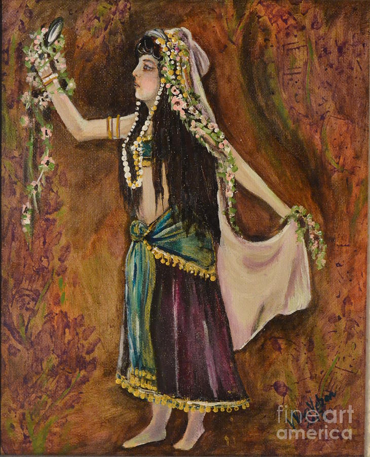 Gypsies Painting - The Veil by Valarie Pacheco