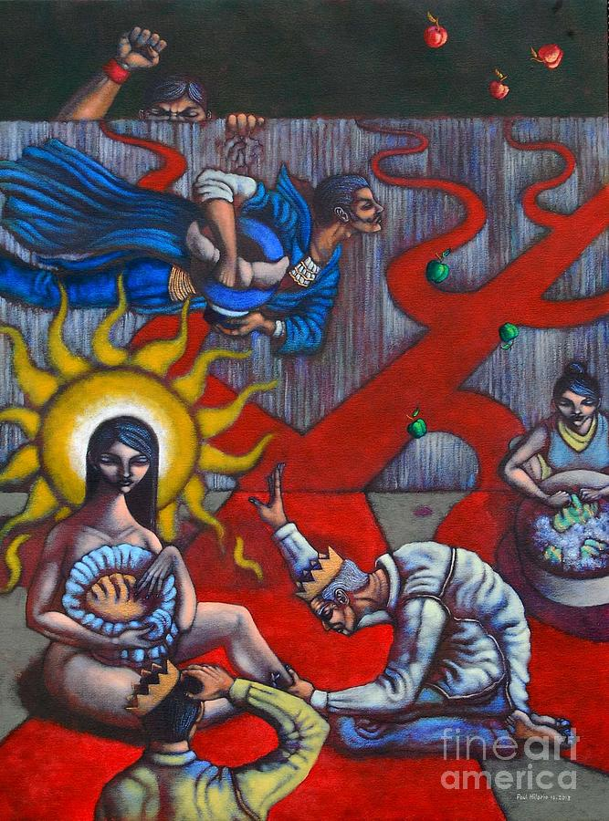Politics Painting - The Veneration Of Counterfeit Gods by Paul Hilario