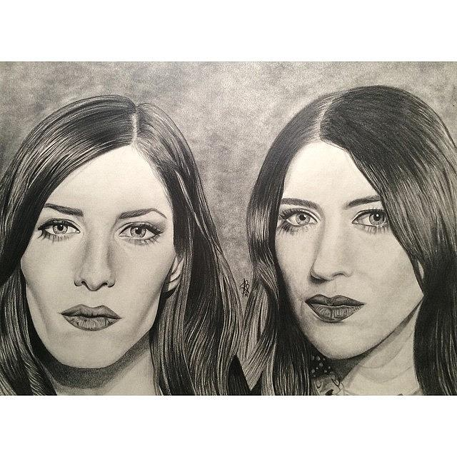 The Veronicas Drawing - The Veronicas by Angelee Borrero