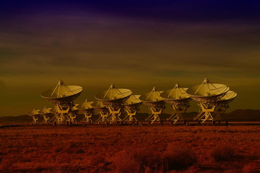 Very Large Array Photograph - The Very Large Array In New Mexico by Jeff Swan
