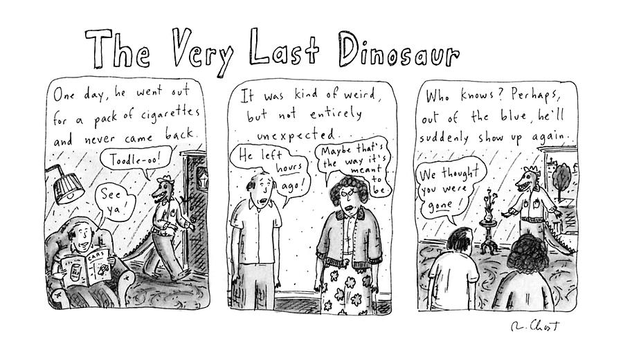 The Very Last Dinosaur: Title Drawing by Roz Chast