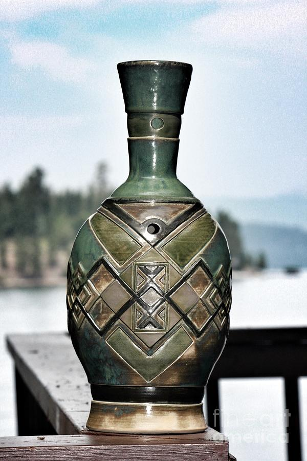 Clay Ceramic Art - The Vessel Of Dynamis by Jason Galles